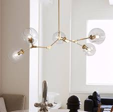 replica branching bubble chandelier 5 by lindsey adelman gold