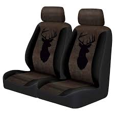 truck buck head 2 piece faux leather low back seat cover pair black brown seat covers meijer grocery pharmacy home more