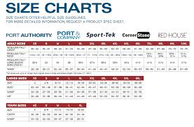 Port Authority Size Chart Arts Arts