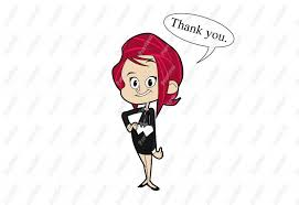 Image result for cartoon illustration of a thanking woman