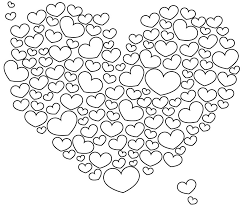 Angel holding heart coloring page. Heart Coloring Pages Coloring Rocks