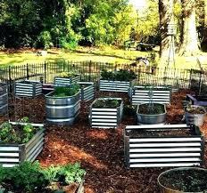 metal garden containers container gardening outdoor storage raised bed