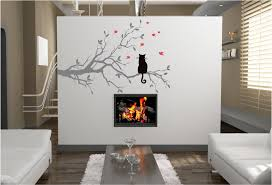 Small Picture CAT IN A TREE VINYL WALL ART STICKERS GRAPHICS DESIGN Custom