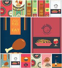 010 Fine Dining Menu Template Modern Set Vector Card Free