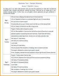 Detailed Travel Itinerary Template Sample Trip Free Templates 7 ...