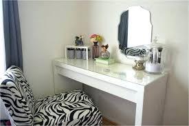 Lighted Makeup Vanity Table Set Corner Vanity Set Black Bedroom ...