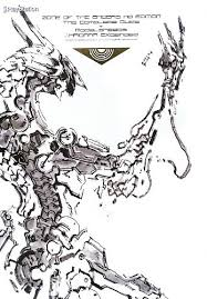 zone of the enders is a video game franchise created by hideo kojima and game publisher konami the cover are you see is by yoji shinkawa 新川洋司 and