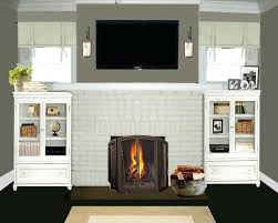 painted brick fireplace ideas painting pictures