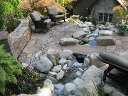 rock patio landscaping ideas n44