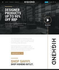 High End Website Design Highend Outlet Ever Increasing Circles
