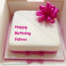 Pink Happy Birthday Cake For Fatima