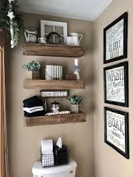 Used to display decorative items. 25 Amazing Diy Floating Shelves For Bathroom To Easy Organize Everything Diy Shelves Bathroom Floating Shelves Diy Floating Shelves