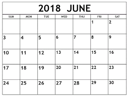 printable calendar 2018 word june 2018 calendar word