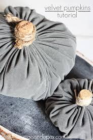 diy velvet pumpkin tutorial