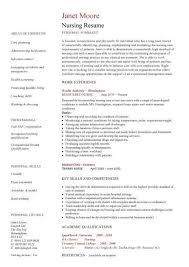 Graduate Nurse Resume Samples Free Resume Templates 2018