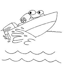 Speedboot Kleurplaat