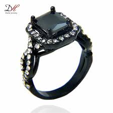 black gold jewelry 2017 turkish gold jewelry black gold rings aaa zircon 18kt white