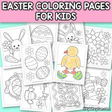 Easter themed coloring images for kids. Printable Easter Coloring Pages For Kids Itsybitsyfun Com