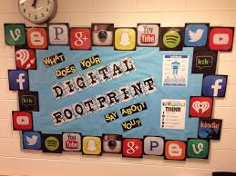 Digital footprint bulletin board for my counseling office.
