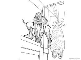 Marvel Heroes Coloring Pages Spiderman