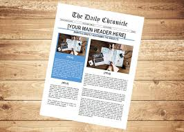 How To Make A Newspaper Template On Microsoft Word 7 Newspaper Templates Templates Info