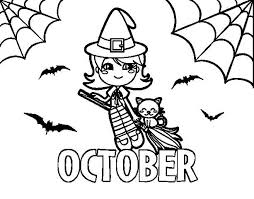 Small Picture October Coloring Pages To Print Free Design and Templates