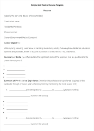 Free Simple Resume Template Best Resume Format Template Pdf Form Basic Free Simple R Yomm