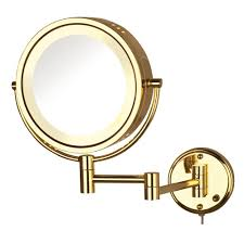 lighted wall mirror. lighted wall mirror in gold l