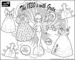 Small Picture An 1830s Historical Paper Doll Coloring Page Featuring Greta