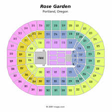 Rose Quarter Seating Chart With Rows Seating Charts Insidearenas Com