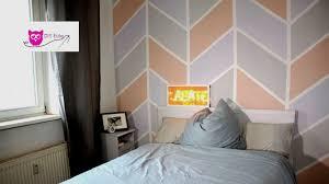 Mit Farbe Wandmuster Streichen Kreative Wandgestaltung Wanddeko Beim