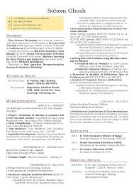 Data Scientist Resume Sample Adorable Data Science Resume Resume In 48 Data Scientist Resume Sample Pdf 4348