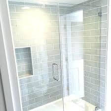 glass subway tile shower bathroom best subway tile in shower with glass grey regarding best white glass subway tile shower