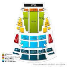 Jubilee Seating Chart Edmonton Southern Alberta Jubilee Auditorium Tickets
