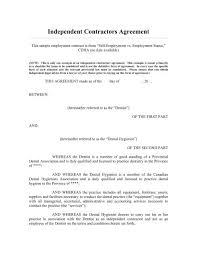 Example Of An Agreement Sample Self Employment Contract Cdha