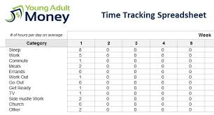 time tracking excel sheet time tracking spreadsheet young adult money