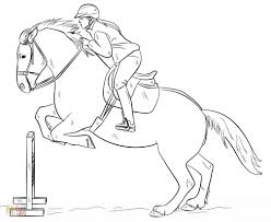 horses jumping coloring pages.  Horses Horse Jumping Coloring Pages With Horses C