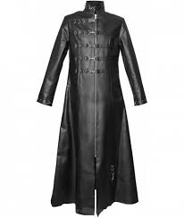 full leather length coat