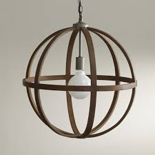 Image Clive Save 10 Crate And Barrel Braden Wood Globe Pendant Reviews Crate And Barrel