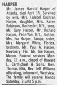 Obituary for James Harold HARPER - Newspapers.com