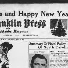 the franklin press and the highlands maconian franklin n c the franklin press and the highlands maconian franklin n c 1932 1968 24 1942 page page one image 1 · north carolina newspapers