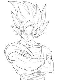 Print Goku Goku Coloring Pages Goku