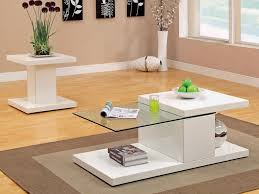 white glass coffee table design