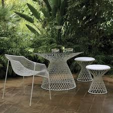white metal outdoor furniture. Collection In White Metal Outdoor Furniture Garden Sets Uk Banaba Set Rattan Ready H