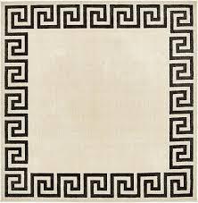 245cm x 245cm greek key square rug
