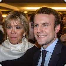 「エマニュエル・マクロン氏と妻ブリジット」の画像検索結果