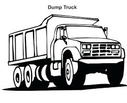 Free Garbage Truck Coloring Sheets Simple Dump Truck Coloring Pages