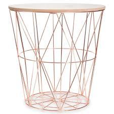 zigzag copper metal side table d40cm 1000 9