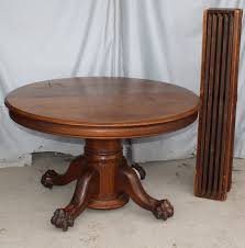 Bargain Johns Antiques Antique Round Oak Dining Table Claw Feet