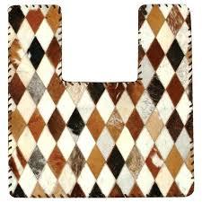 cowhide contour bathroom rug rustic rugs orange